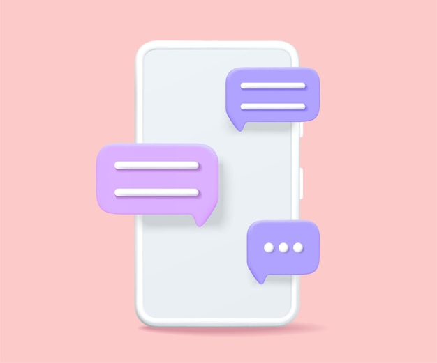 Smartphone with a chat image vector graphics.