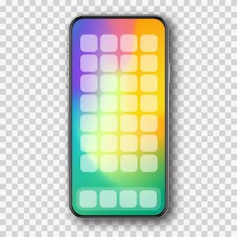 Смартфон с цветным экраном и приложениями