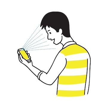 Смартфон с разблокировкой сканирования лица