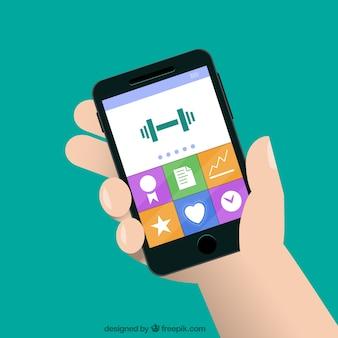 Smartphone con app di fitness