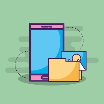 Smartphone with folder picture album