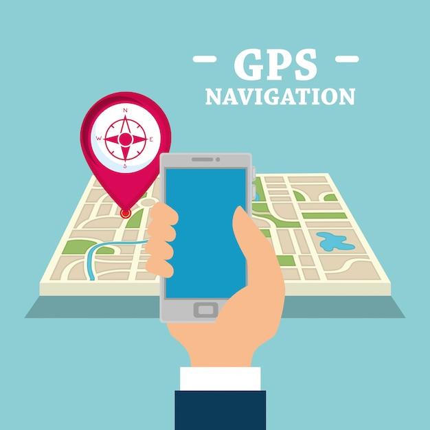Smartphone with gps navigation app