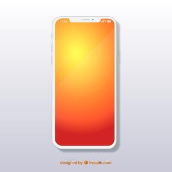 Смартфон с градиентными обоями