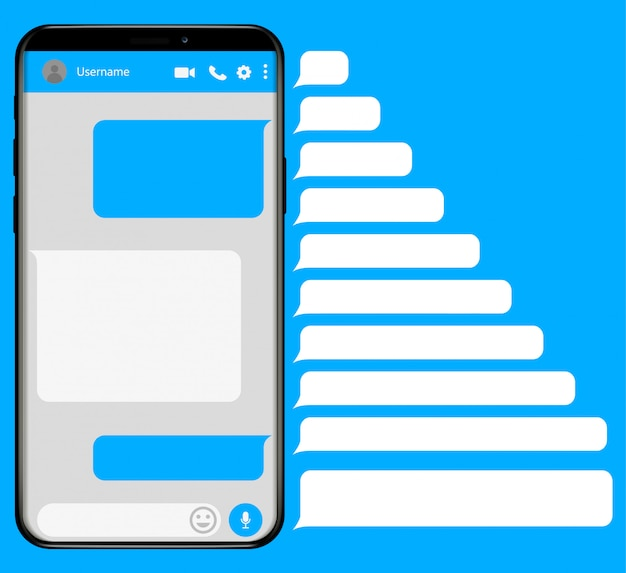 Smartphone with messaging sms app