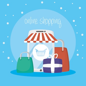 Смартфон с технологией онлайн покупок