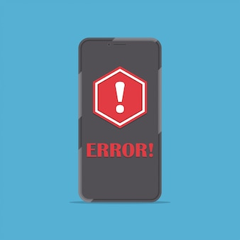Smartphone with red alert message