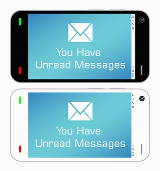 A smartphone with unread messages
