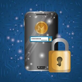 Smartphone with virtual coin monero