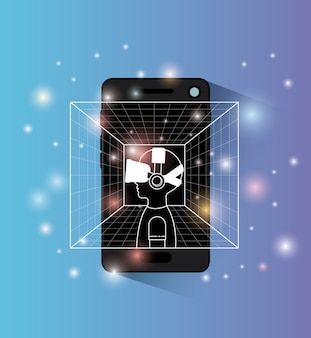 Smartphone with virtual reality technology