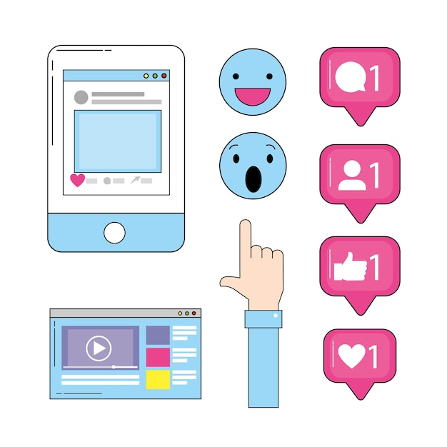Смартфон с веб-видео и социальным чатом
