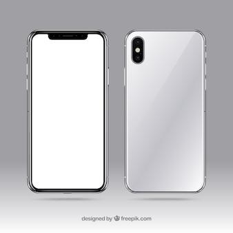 흰색 화면이있는 iphone x