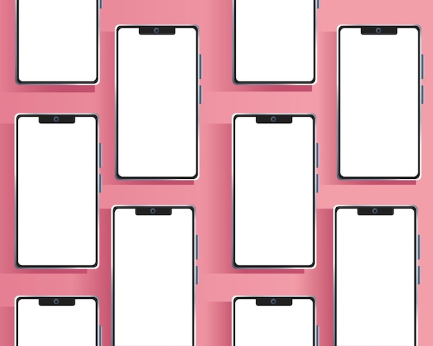 Smartphones devices  branding pattern  illustration