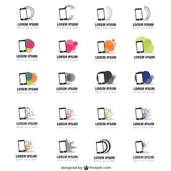Smartphones logos template pack