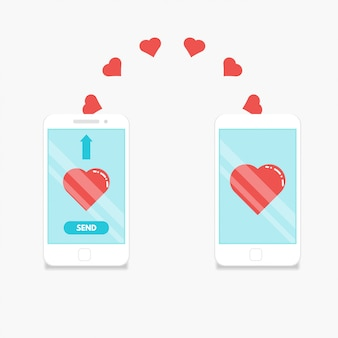 Smartphones sending love