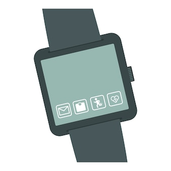 Smartwatch button thumbnail icon image