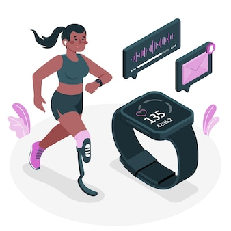 Smartwatch concept illustration
