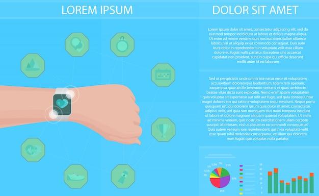 Концепция фитнес-трекера smartwatch