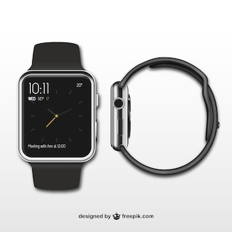Smartwatch front and side