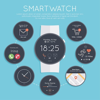 Smartwatch screens collection