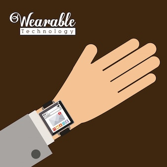 Smartwatch technology design, vector illustration.