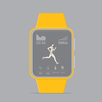 Smartwatch technology with sport fitness tracker applications