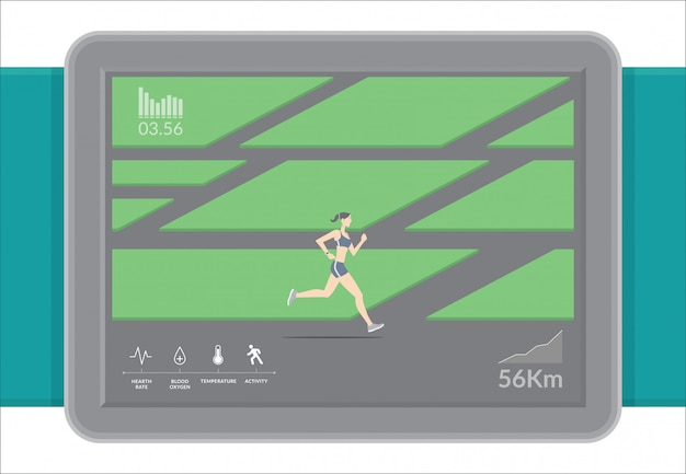 Smartwatch technology with sport fitness tracker applications.