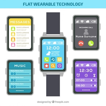 Smartwatch with different screens