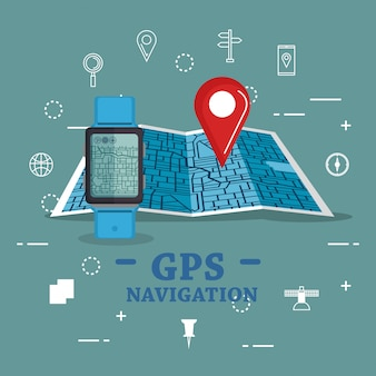 Smartwatch with gps navigation app