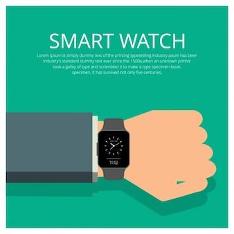 Плоский smartwatch шаблона