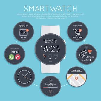 Коллекция smartwatch экраны