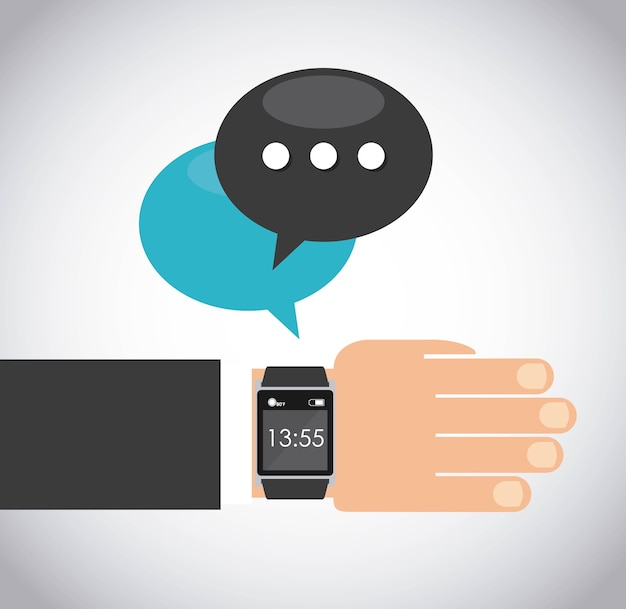 Smartwatchウェアラブル技術のアイコン