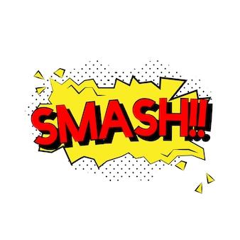 Smash comic style