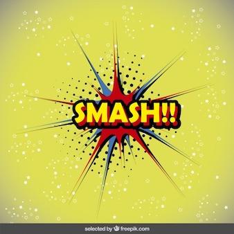 Smash speech bubble in pop art style
