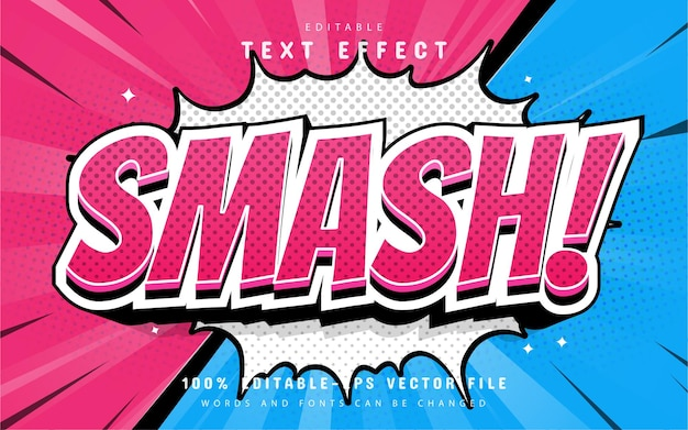 Smash text, comic style text effect