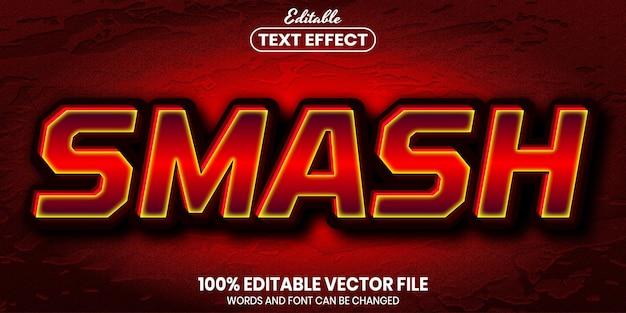 스매시 텍스트, 글꼴 스타일 편집 가능한 텍스트 효과