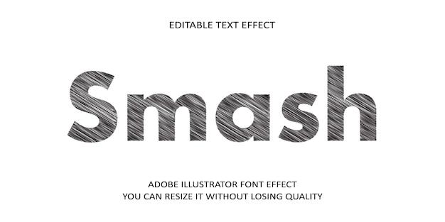 스매시 벡터 편집 가능한 텍스트 효과 글꼴
