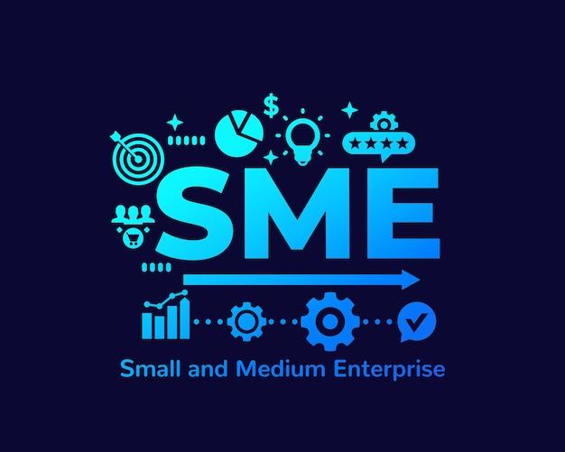 Sme, small and medium enterprise,  illustration