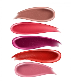 Smears lipstick