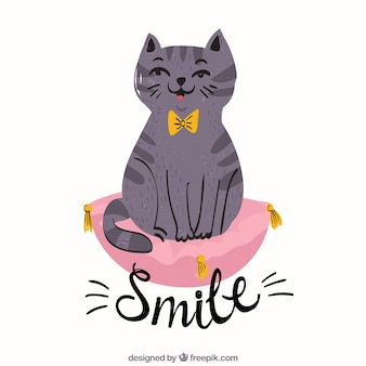 Smile backgorund with cat
