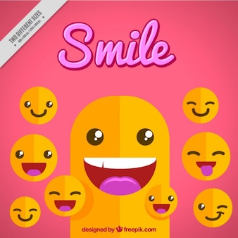 Smile background with emojis