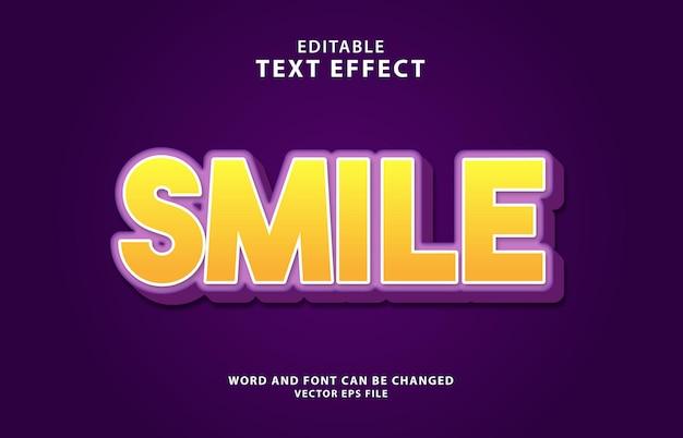 Улыбка день 3d улыбка редактируемый текстовый эффект
