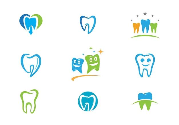 미소 치과 로고 템플릿 벡터 일러스트 아이콘 디자인