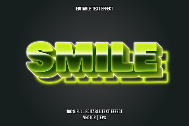 Smile editable text effect neon style