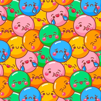 Smile emoticons colorful pattern