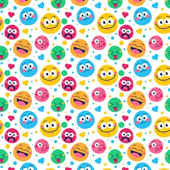Smile emoticons pattern
