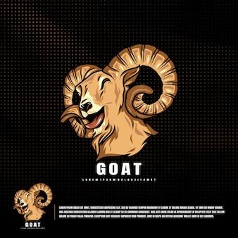 Smile goat illustration premium