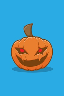 Улыбка хэллоуин тыква иллюстрации шаржа