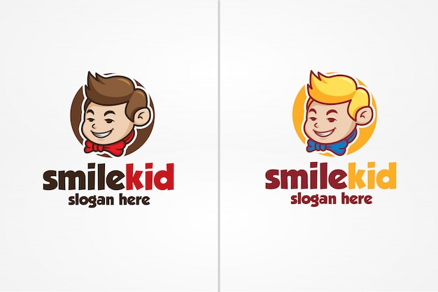 Smile kid logo template