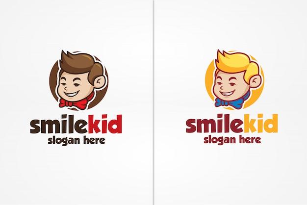Шаблон логотипа smile kid