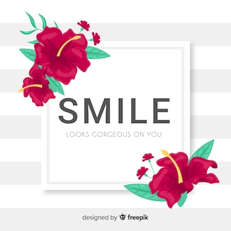 Smile looks gorgeous on you. lettering quote